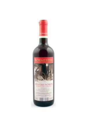 BORMESTER FELEDES VOROS wino węgierskie czerwone półsłodkie