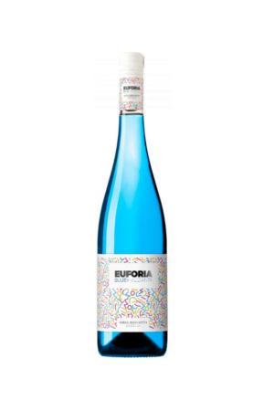 Euforia Blue Frizzante wino hiszpańskie kolorowe półsłodkie musujące