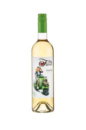The best friend Traminer wino mołdawskie białe półwytrawne bezalkoholowe