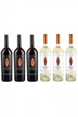 Zestaw Amfora wino mołdawskie wytrawne