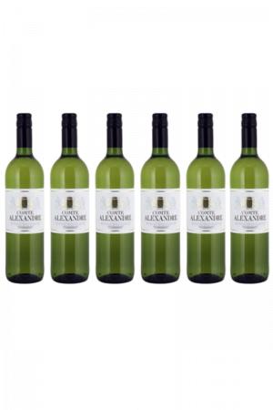 Zestaw COMTE ALEXANDRE wino francuskie białe półwytrawne