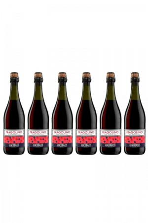 Zestaw Gia Fragolino Red Sparkling wino włoskie czerwone słodkie