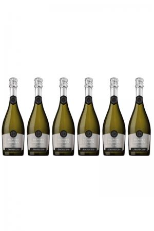 Zestaw Giuseppe Prosecco Spumante DOC Extra Dry wino włoskie białe półwytrawne musujące prosecco