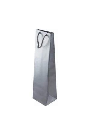 torba ozdobna prezentowa srebrna na wino