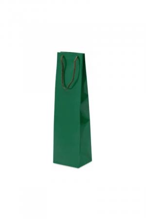 torba ozdobna prezentowa zielona na wino